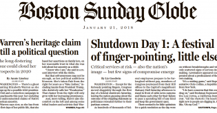 "Boston Globe A1: ""Elizabeth Warren's Native American Problem"" Grows"