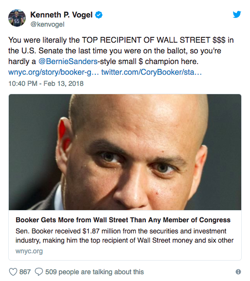 America Rising Pac Profiles In Courage Booker Following The Pack