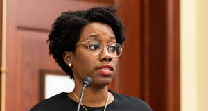 Rep. Lauren Underwood Ignores Question About Investigating Alleged Rape Downstate