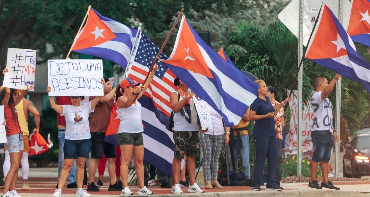 Cuban-Americans Demand Action From Joe Biden at White House Protest